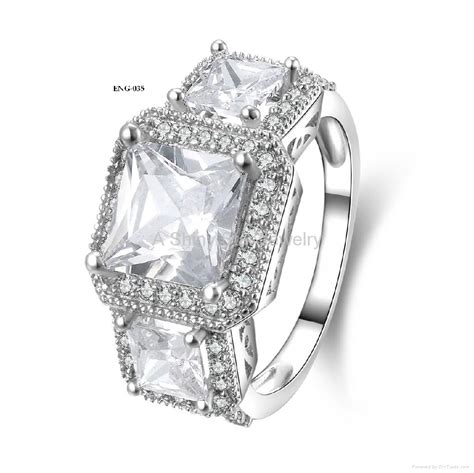 Cincin White Luxury Ring 020 luxury 925 silver material engagement ring for wedding jewelry accessory eng 020 047
