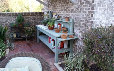 garden potting bench ideas pretty potting tables for spring sprucing your home