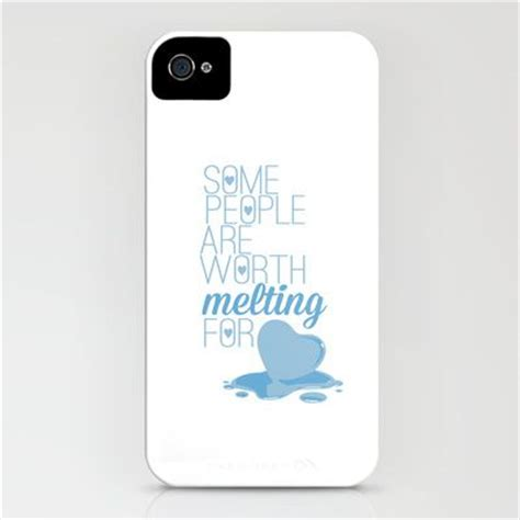 Iphone Casing Quote White 67 frozen some are worth melting for olaf
