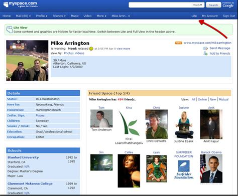 Myspace Pages Of And by Myspace Lite Brings Bloated Profile Pages To Size