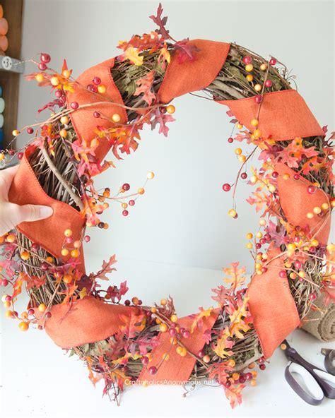 diy wreath craftaholics anonymous 174 diy fall wreath with monogram