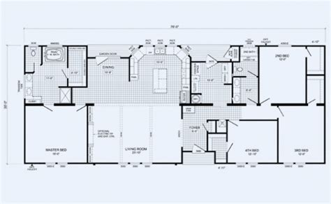 cavalier mobile homes floor plans mobile home plans ideas