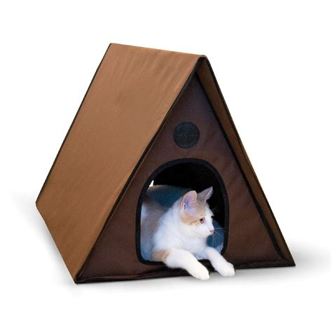 Petco Cat Beds by K H Chocoloate Outdoor Heated A Frame Cat Bed Petco