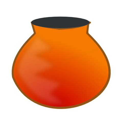 Water Pot Outline by Earthen Pot Icon Clip At Clker Vector Clip Royalty Free Domain