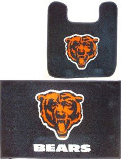 chicago bears bathroom accessories chicago bears two piece bath rug set home garden bathroom