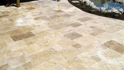 how to put in a paver patio flagstone brick pavers in a patio flooring installation