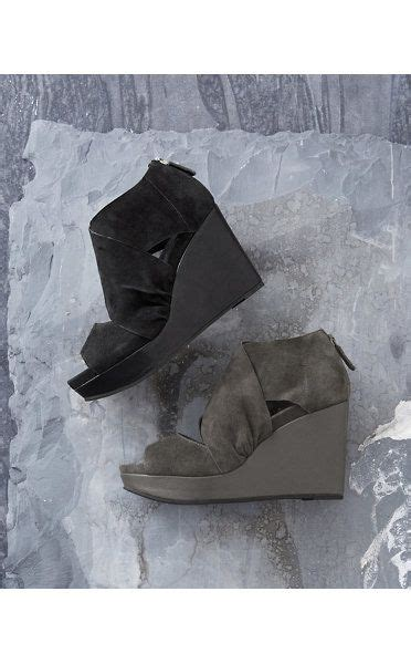 eileen fisher draw suede wedge shoes want on me
