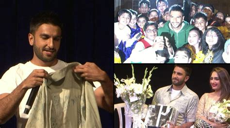 Re Lives Days by Ranveer Singh Re Lives His School Days As He Graces Annual