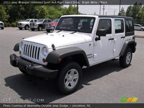 Jeep Right Drive Bright White 2011 Jeep Wrangler Unlimited Sport 4x4