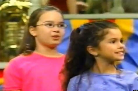 demi lovato as a kid on barney throwback to selena gomez and demi lovato as bffs on barney