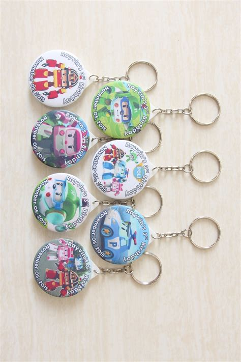 jual gantungan kunci robocar poli keychain souvenir