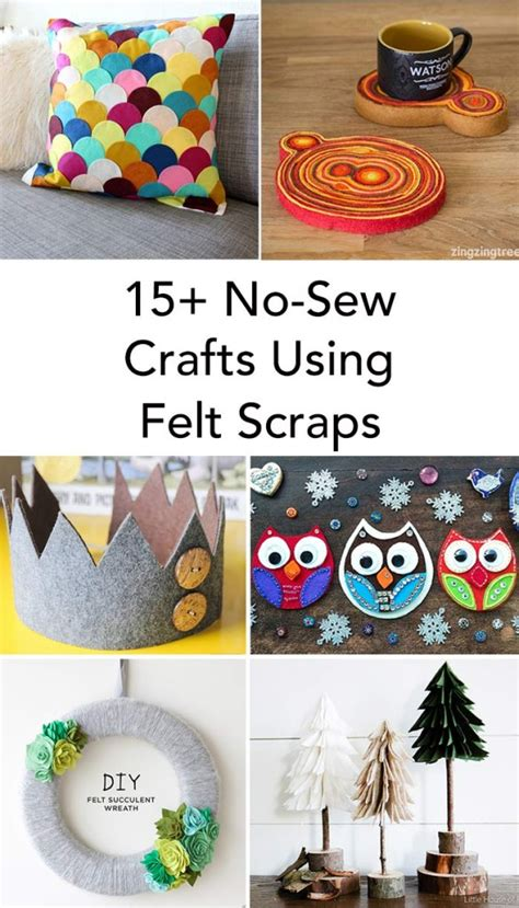 fabric crafts felt 15 felt scrap crafts you will want to make zingzingtree