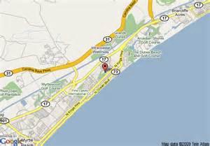 us map myrtle sc map of hton inn myrtle northwood myrtle