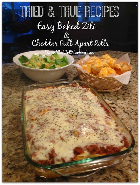 sweet little bluebird easy baked ziti and cheddar cheese