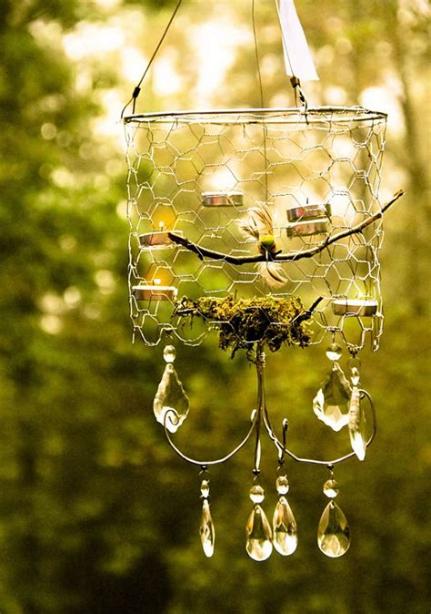 Outdoor Chandelier Diy 5 Chicken Wire Diy Ideas For The Home