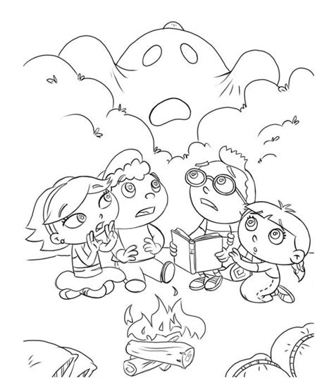 bunnytown coloring page little einstein haunted by ghost at cfire coloring page