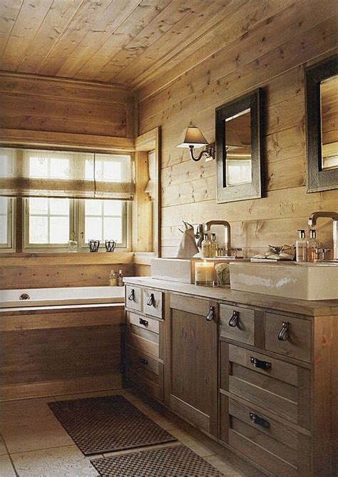 Cabin Bathroom Ideas 40 Rustic Bathroom Designs Decoholic