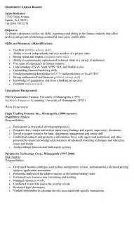 resume exles templates free sle data analyst resume