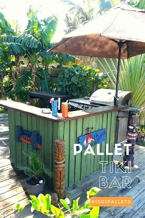 pallet tiki bar   inspiration  pallets