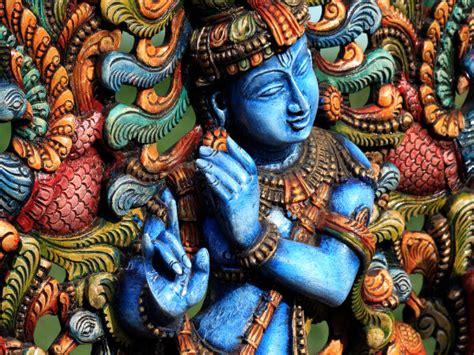 blue krishna wallpaper why is lord krishna blue boldsky com