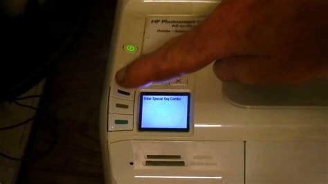 resetting hp c4280 printer hp c4580 printer quot cartridge error quot clear fix youtube