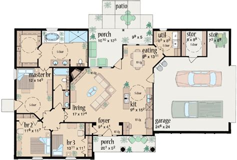 monster house plans com ranch style house plans 1601 square foot home 1 story