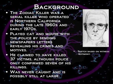 who is the killer the zodiac killer