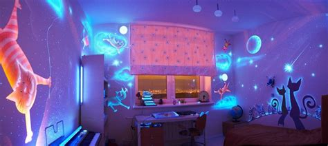 glow in the paint bedroom ideas glow in the bedroom decoration