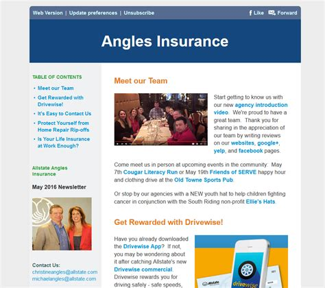 Insurance Newsletters May 2016 Angles Insurance Newsletter Angles Insurance