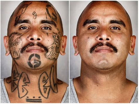 tattoo reception jobs london powerful portraits of ex gang members with their tattoos