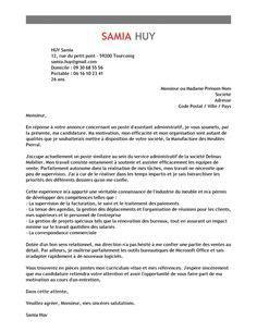 Présentation Lettre De Motivation Sur Deux Pages lettre de motivation assistant administratif exemple lettre de motivation candidature