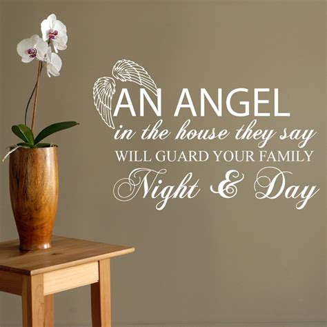 Where Can I Buy Wall Stickers angel in the house wall sticker quote wall chimp uk