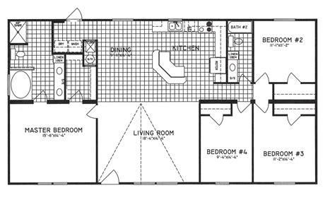 bathroom floor plans with walk in closets 4 bedroom floor plan c 9301 hawks homes manufactured