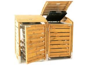 abri poubelle bois cache poubelle en bois quot 2 poubelles quot stelmet castorama