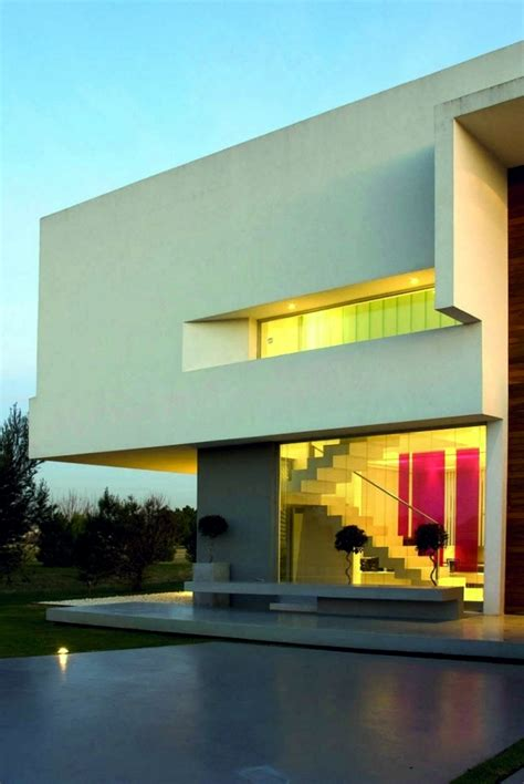 Flat Roof Garage Design concrete building with glass fronts in the bauhaus style
