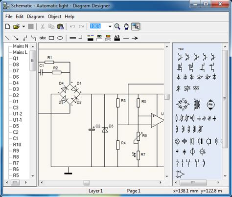 free open source schematic flowchart design software