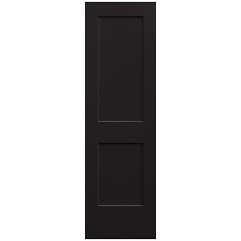 Jeld Wen Interior Doors Home Depot by Jeld Wen 24 In X 80 In Black Painted Smooth Solid