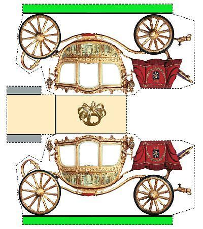 Origami Carriage - 100 best papercraft model cars images on paper
