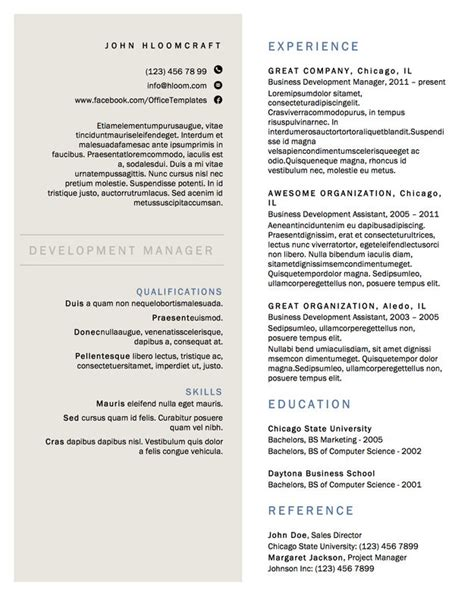2 column resume template 21 free r 233 sum 233 designs every needs