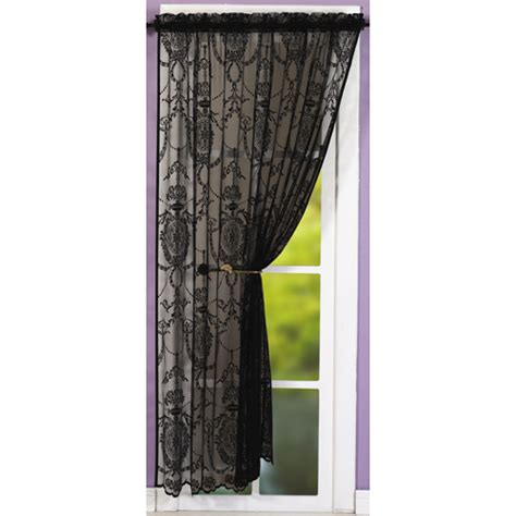 damask voile curtains holly damask laced black voile curtain panel tonys textiles