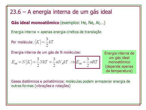 23 6 a energia interna de um g 225 s ideal ppt