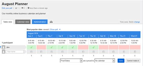 doodle poll tableview doodle provides the best calendar for business doodle