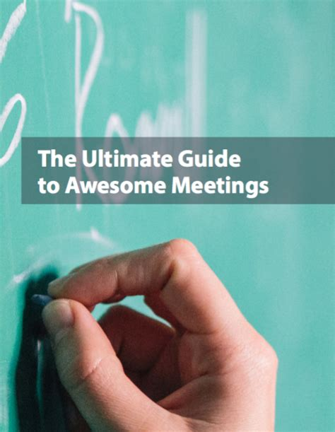 The Ultimate Guide To Resources by The Ultimate Guide To Awesome Meetings Human Resources
