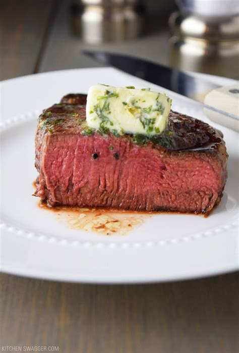 How To Grill Filet Steak by Pan Seared Filet Mignon With Garlic Herb Butter Recipe
