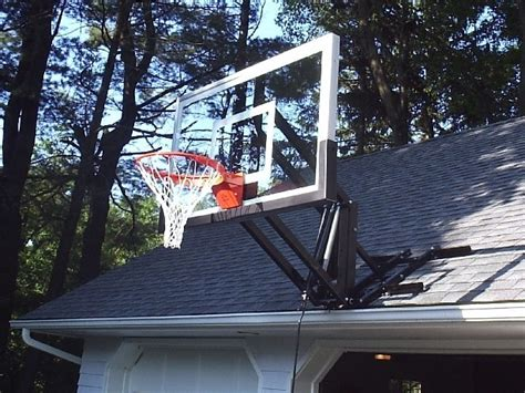 Adjustable Basketball Hoop Garage Mount by Hoops Plus Let The Begin Basketball Wall Roof