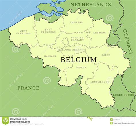 belgium provinces map belgium provinces map stock photos image 23061323