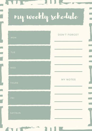 design calendar canva weekly planner template weekly schedule planner templates
