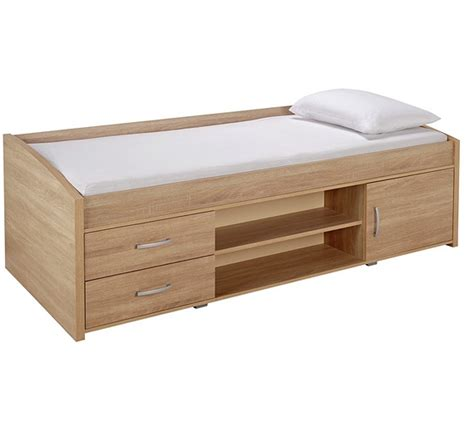 Caign Bed by Buy Yanniek Single Cabin Bed With Mattress Oak At