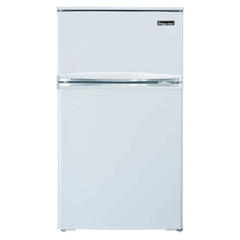 magic chef 3 1 cu ft mini refrigerator in white