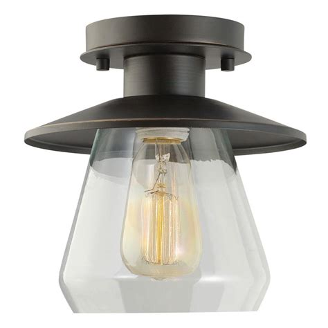 Glass Flush Mount Ceiling Light Globe Electric Vintage Semi Flush Mount Rubbed Bronze And Glass Ceiling Light 64846 The